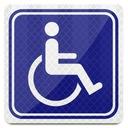 INWALIDA Niepełnosprawny ODBLASK * MOCNY MAGNES *