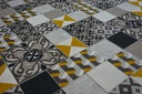DYWAN LISBOA 120x170 PŁYTKI żółty / szary #B459 Kod produktu Dywan123