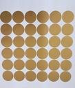 наклейки на стену для детей точки кольца золотые