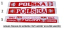 POLSKA SZALIK TKANY KIBIC SZAL REPREZENTACJA EURO