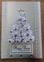 KARTKA Boże Narodzenie rękodzieło perłowa