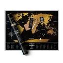 Mapa zdrapka - Świat - Czarna Deluxe- Sklep Wawa