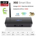 X92 TV Box Android 6.0 2/16GB S912 2/5 GHz BT