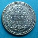 256. Holandia 1930 r. 10 centów Ag