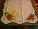 Obrus 50x100 Serweta bieżnik Boże Narodzenie krem