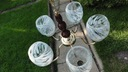 Stylowa lampa, żyrandol - 5 ramion, mosiądz