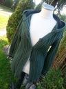 zielony rozpinany sweter z kapturem