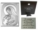 OBRAZEK srebrny Matka Boska Ślub Chrzest 9x13