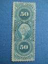 USA - stary znaczek fiskalny - 50 centów - 1867 r