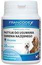 Francodex PASTYLKI usuwające KAMIEŃ NAZĘBNY psa