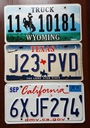 Wyoming, Texas, California  - tablice USA
