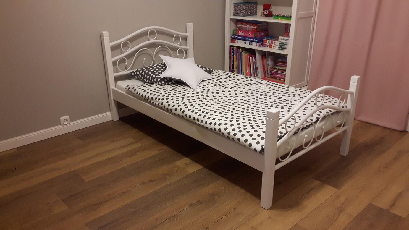 Nowość łóżko Metalowe 90x200 Białe I Czarne