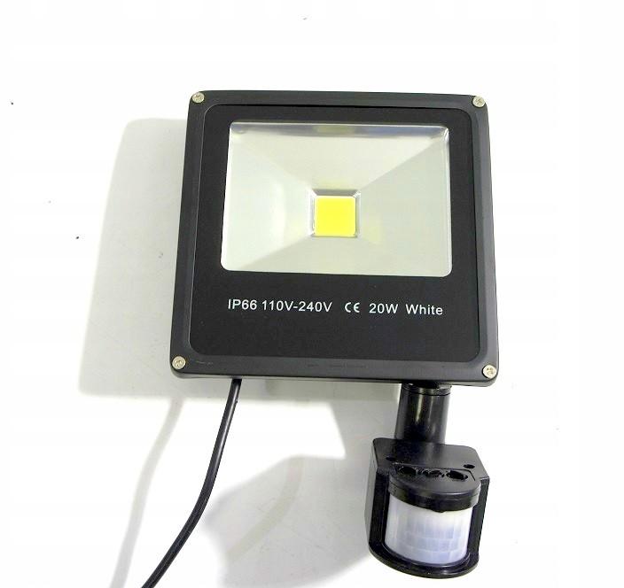 20w Led Odpowiednik: LAMPA ZEWNĘTRZNA HALOGEN LED 20W Z CZUJKĄ RUCHU 6798675419