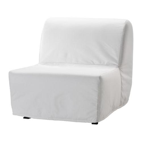 Ikea Lycksele Lovas Fotel Rozkładany Biały