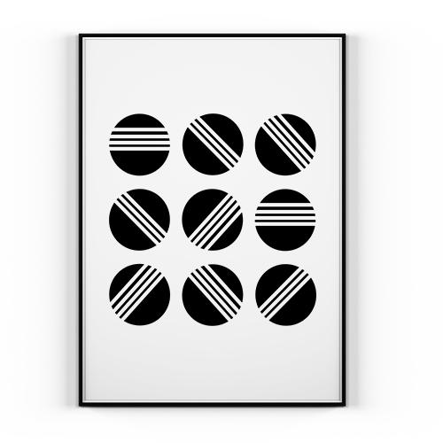Plakat Abstrakcja 30x40cm Styl Skandynawski