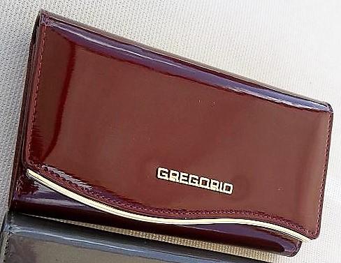 83656386d2cc6 Portfel damski Gregorio lakierowany czerwony skóra 6970661058 - Allegro.pl