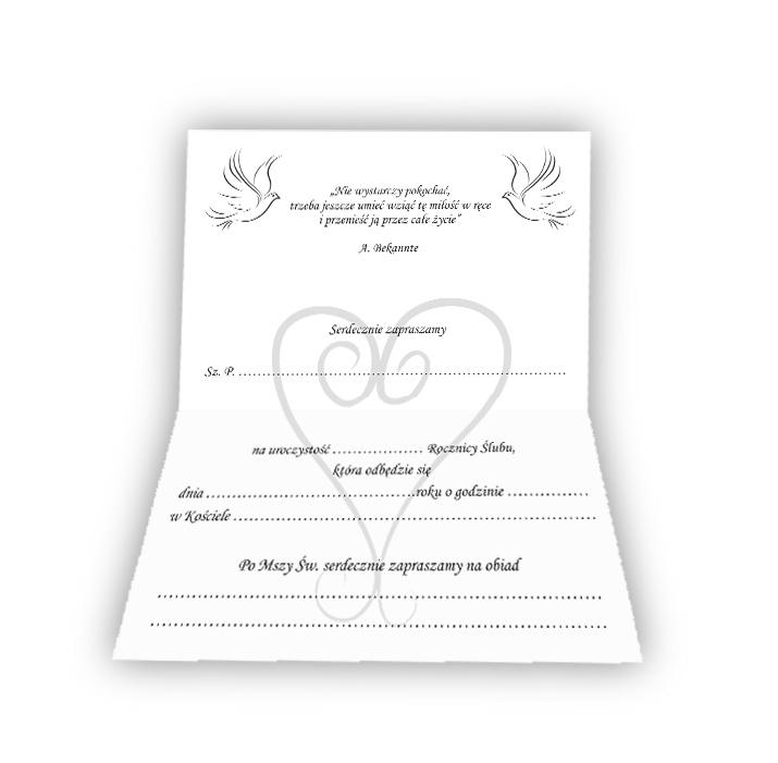Bardzo dobra Zaproszenie zaproszenia na 25 40 50 rocznicę ślubu 6307595538 OX99