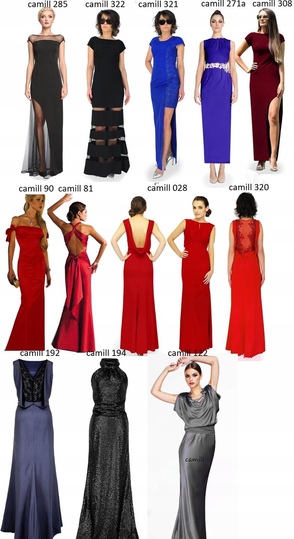 10576f5f36 Camill 90 szafirowa wieczorowa sukienka r.44 24H 7693339901 - Allegro.pl