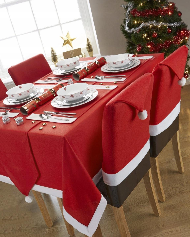 Pokrowiec świąteczny Na Krzesło Czapka Mikołaja