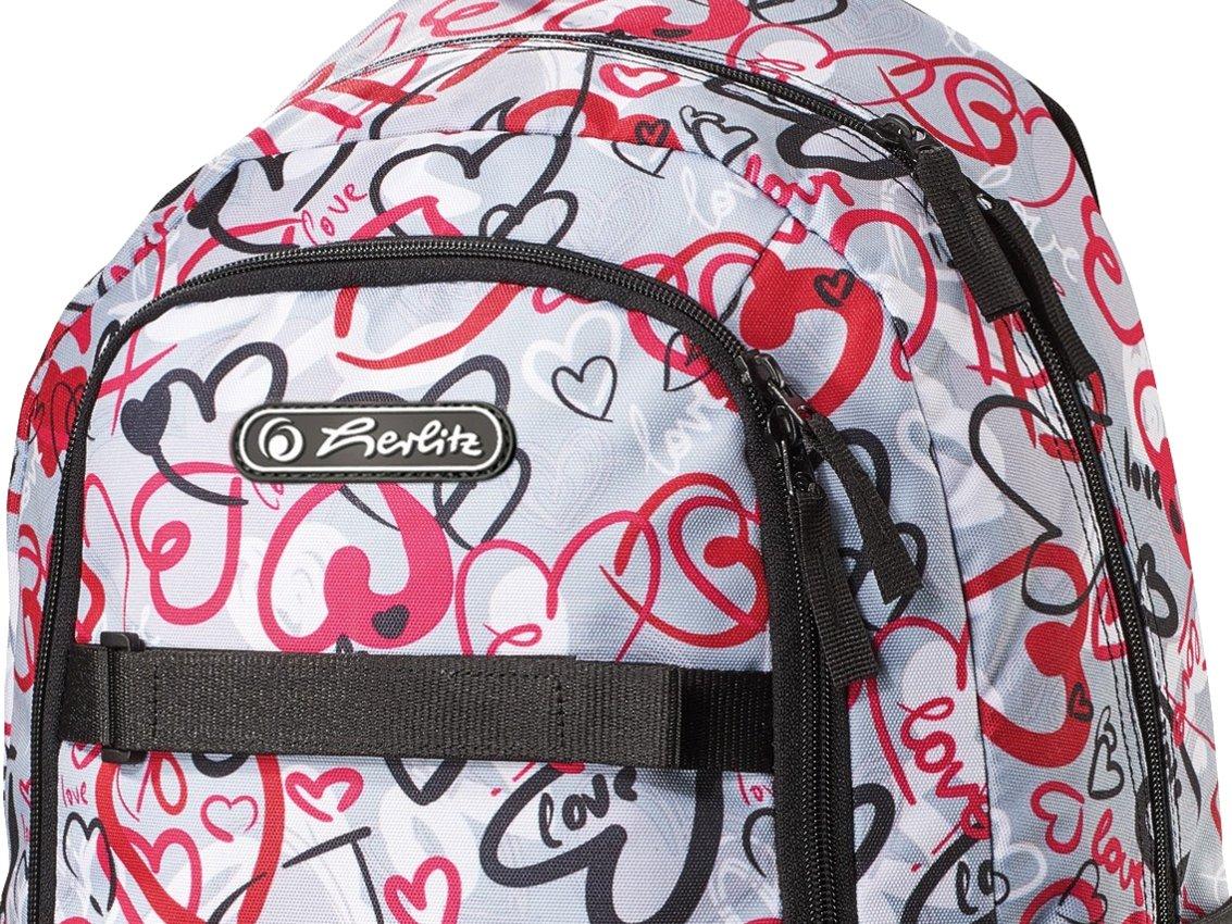 07a63d7085473 HERLITZ Tornister Plecak Skater Style HEARTS 7525192684 - Allegro.pl