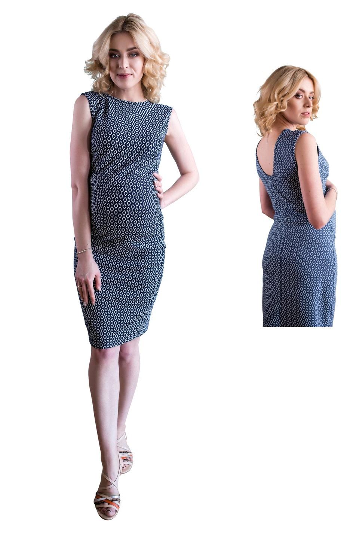 Sukienka ciążowa romby odkryte plecy 4256 Oasi L