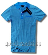 FISHBONE NEW YORKER AZUL BLUE POLO W PASKI XS