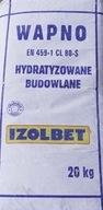 IZOLBET WAPNO BUDOWLANE HYDRATYZOWANE PALONE 20 KG