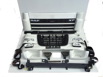 daf xf 105 бампер решетка радиатора решетка фара ветровик - фото