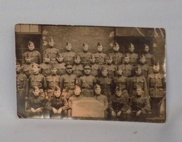 ФОТО СОЛДАТ, АВТОГРАФ! БЕЛЬГИЯ 1922  доставка товаров из Польши и Allegro на русском