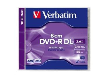 1шт DVD+R Mini 8 см Verbatim 2,6 ГБ HARD COAT 55min доставка товаров из Польши и Allegro на русском