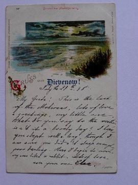 Dziwnów Dievenow plaża kotwica 29.7.1895 lit. доставка товаров из Польши и Allegro на русском