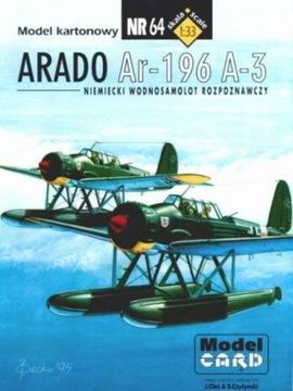 Model Card № 64 Самолет ARADO Ar-196 доставка товаров из Польши и Allegro на русском