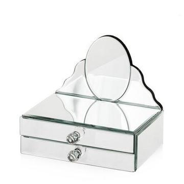 ШКАТУЛКА для ювелирных изделий СТЕКЛЯННАЯ зеркальная -15% доставка товаров из Польши и Allegro на русском