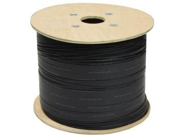 Волоконно-оптический кабель FO черный FTTH SM 2J 9/125 1км доставка товаров из Польши и Allegro на русском