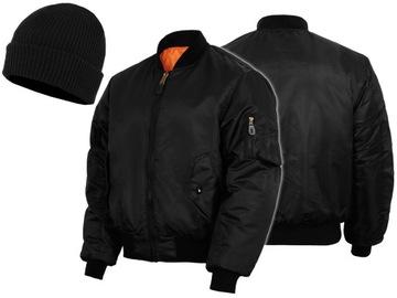 MT Военная Куртка US MA1 Flek Листовки, Черная XL доставка товаров из Польши и Allegro на русском