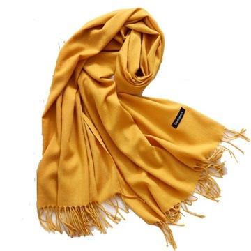 БОЛЬШОЙ ПЛАТОК шарф glad кашемировый КАШЕМИР МЕДОВЫЙ доставка товаров из Польши и Allegro на русском