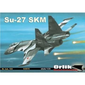 Орлик 104 истребитель СУ-27 СКМ 1:33 доставка товаров из Польши и Allegro на русском