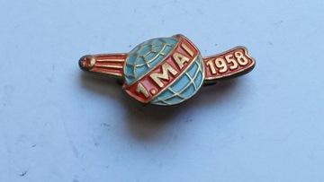 Значок DDR/ГДР 1 МАЯ 1958 доставка товаров из Польши и Allegro на русском