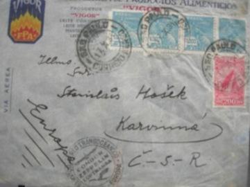 Письмо рейс Condor Zeppelin Lufhansa Brasil-Европа'34 доставка товаров из Польши и Allegro на русском