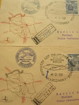 2 Списка с R-ka DL DDR Варшава-Берлин 04.02.1956 доставка товаров из Польши и Allegro на русском