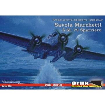 Орлик 038 - Савойя Маркетти SM.79 Sparviero 1:33 доставка товаров из Польши и Allegro на русском