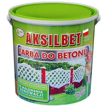 КРАСКА AKSILBET ДЛЯ БЕТОНА, ЗАБОРОВ ЦВЕТА 5L доставка товаров из Польши и Allegro на русском