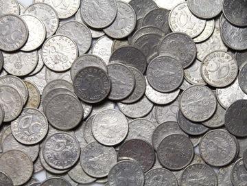 III Рейх МОНЕТА 50 Pfennig АЛЮМИНИЯ - 100 штук доставка товаров из Польши и Allegro на русском