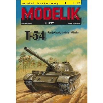Штампик 5/07 Т-54 - русский средний танк 1:25 доставка товаров из Польши и Allegro на русском