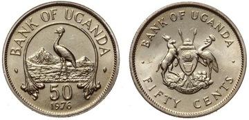 Уганда - 50 Центов 1976 - MENNICZA UNC - РЕДКАЯ ! доставка товаров из Польши и Allegro на русском