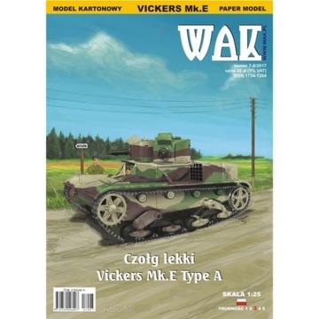 WAK 7-8/17 легкий Танк Vickers Mk.E Type A 1:25 доставка товаров из Польши и Allegro на русском