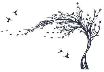 Samolepky na stenu TREES XXXL WELUR 236x190 cieľ