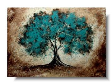 STROM ručne maľovaný obraz na plátne PRE KANCELÁRSTVO