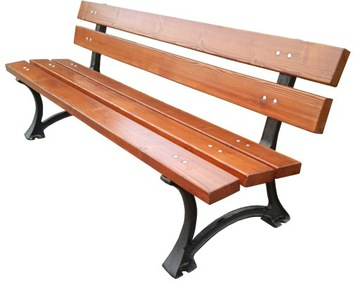 Mestská lavička ŁÓDŹ CAST IRON LEGS, lavička v parku