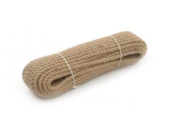Krútené jutové lano 8 mm - 10 metrov